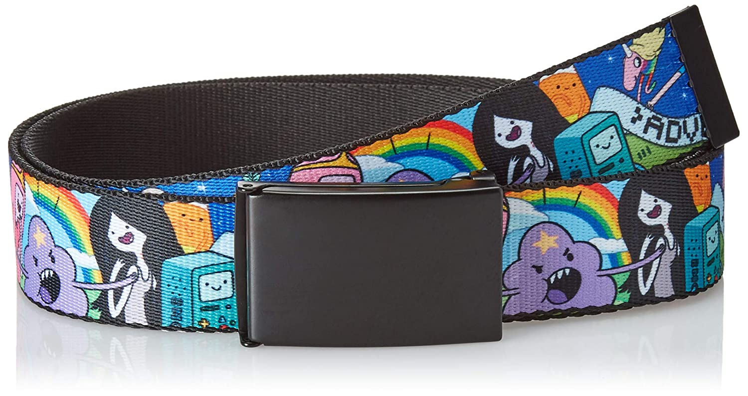 Multicolor Wide-Fits up to 42 Pant Size Buckle-Down Mens Web Belt Adventure Time 1.5