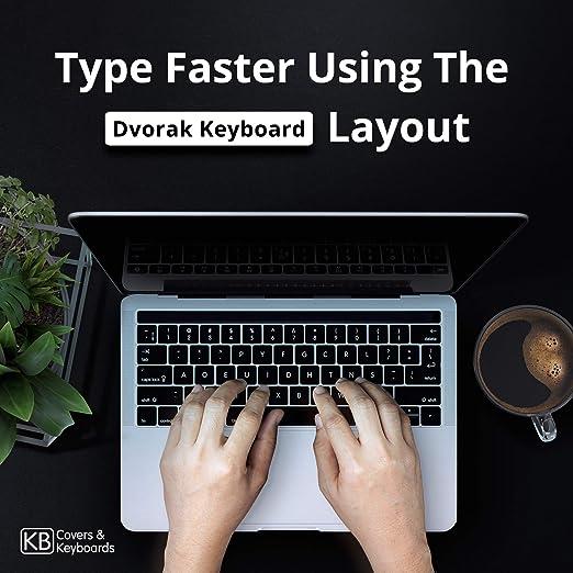 Dvorak teclado cubierta para el MacBook Pro w/Touch Bar