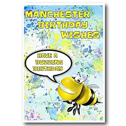 Tarjeta de felicitación de cumpleaños del Manchester ...