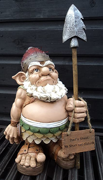 Amazon.com: Sion The Shed Protector Viking Gnome Garden Gift ...