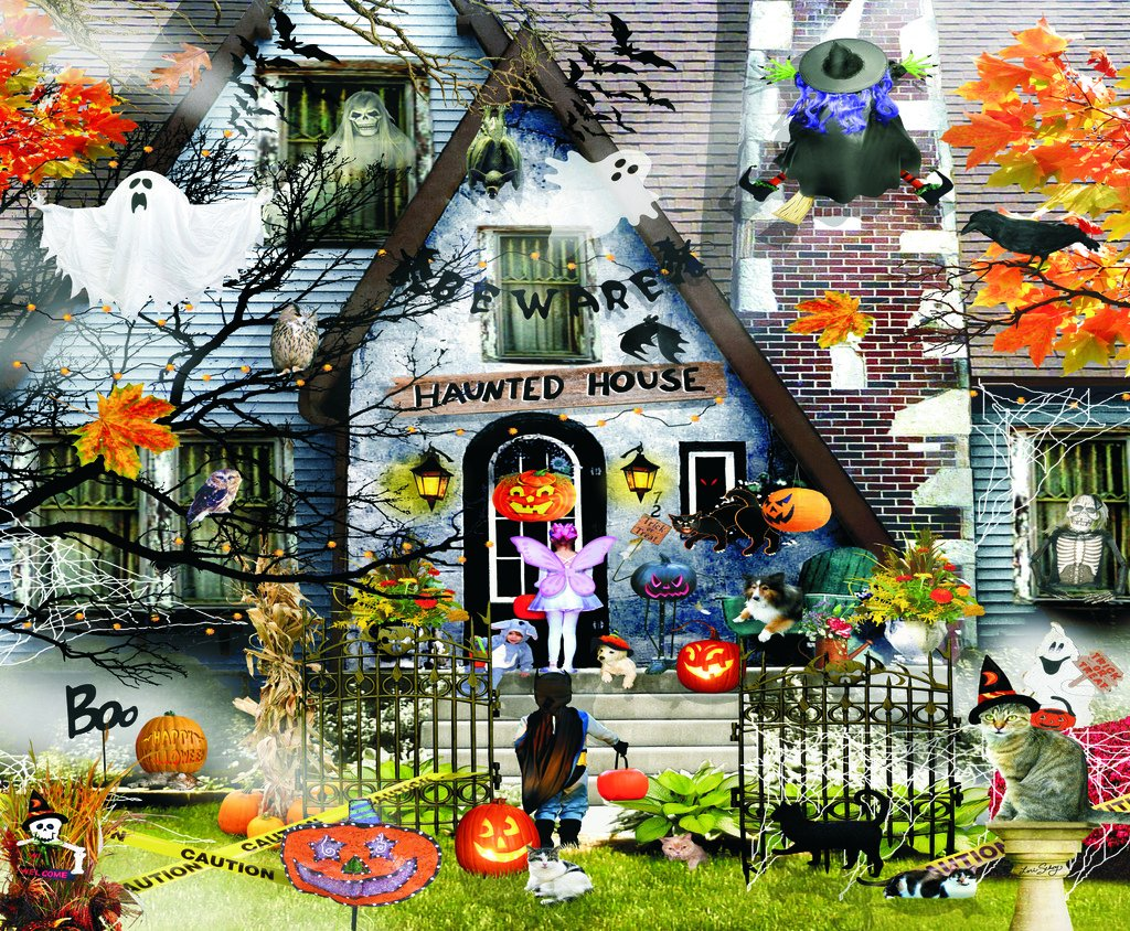Haunted House - Halloween Themed Puzzle - 1000 pc Jigsaw Puzzle by SunsOut