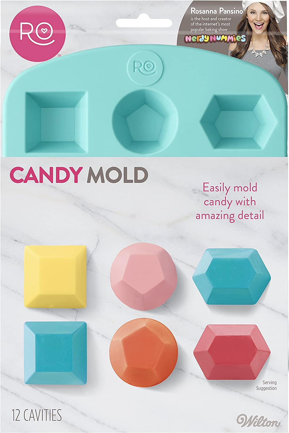 Rectangle Faceted Gem MoldMould Polymer Clay Resin Fondant Soap Wax Candy Silicone Mold