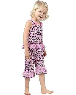 Laura Dare Girls Dot Egg Stravaganza Capri Pajamas 2t-6x