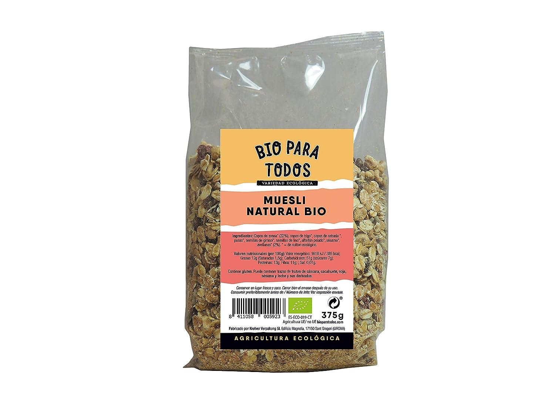 Bio para todos Muesli Frutas Bio - 6 Paquetes de 375 gr - Total: 2250 gr: Amazon.es: Alimentación y bebidas