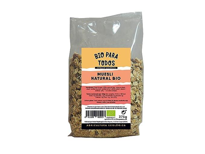 Bio para todos Muesli Frutas Bio - 6 Paquetes de 375 gr - Total: 2250
