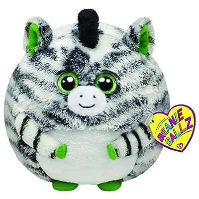 """Ty Beanie Ballz Oasis Zebra 5"""" Plush: Toys & Games"""