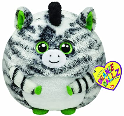 244199d5fa9 Image Unavailable. Image not available for. Color  Ty Beanie Ballz Oasis  Zebra 5 quot  Plush