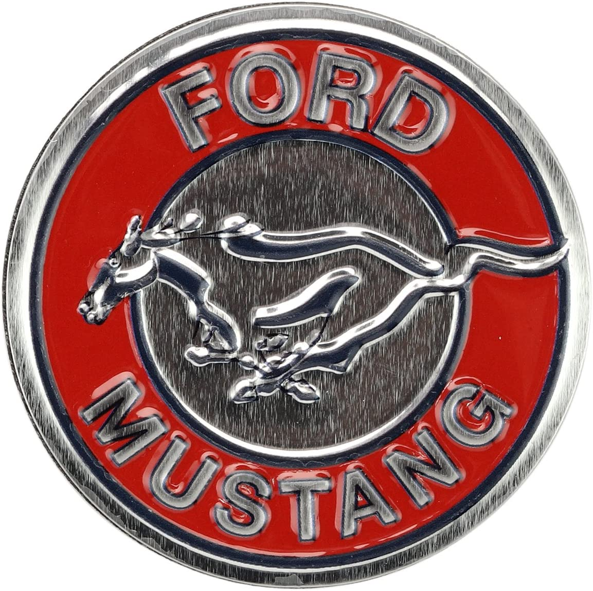 Open Road Brands Ford Red and Silver High Gloss Mustang Tin Metal Magnet - an Officially Licensed Product Great Small Gift and Addition to Add What You Love to Your Home/Garage Decor