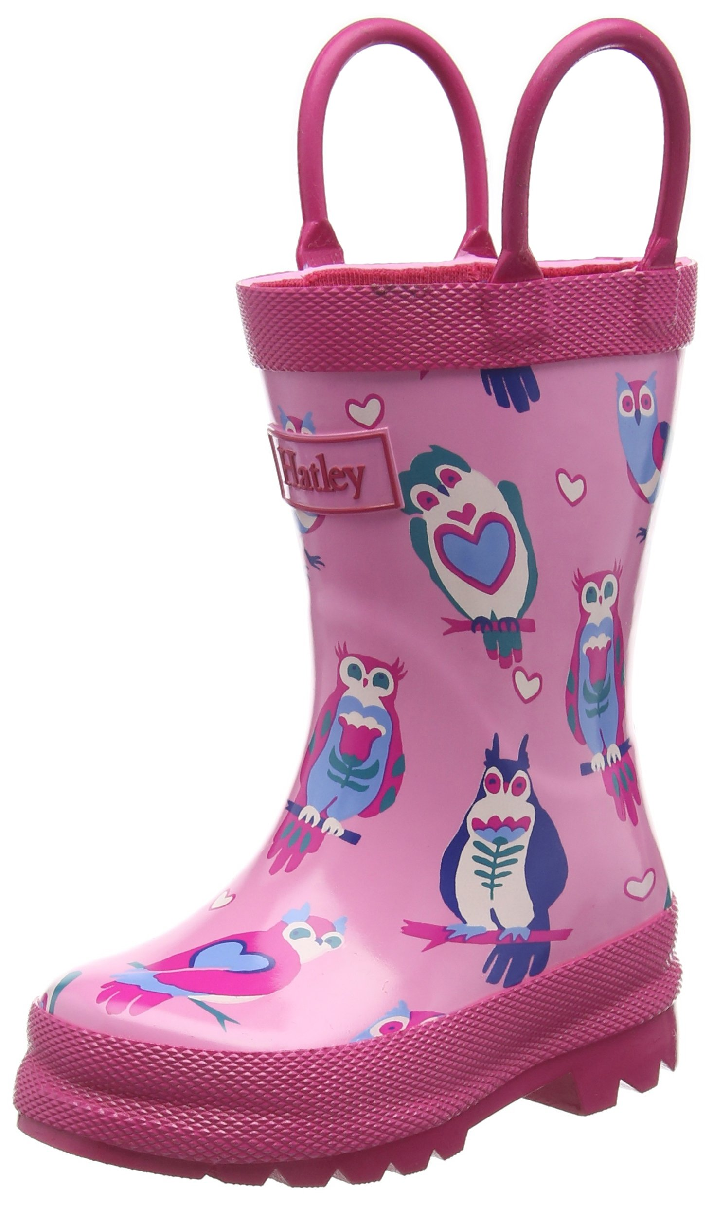Hatley Printed Boot Girls Rain Accessory, Happy Owls, 5 US Child