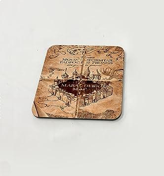 Hogwarts Marauders Map Harry Potter Castle Retro Wallpaper Cup Drink