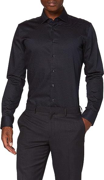 Seidensticker X-Slim Langarm Print Soft Camisa de Vestir para Hombre