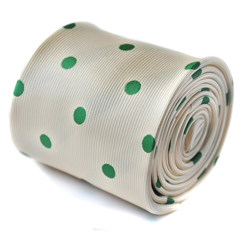 Frederick Thomas marfil y verde lunares punto corbata con ...