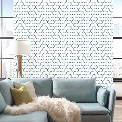 RoomMates RMK9093WP Open Geometric Peel And Stick Wallpaper 205quot X 165 Feet