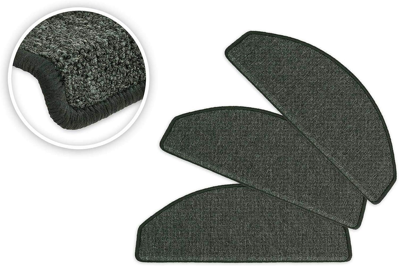 Plastique Taupe Lot de 10 Exklusiv-Heimtextil Floordirekt Step Tapis Descalier Ramses Semi-Circulaire Set