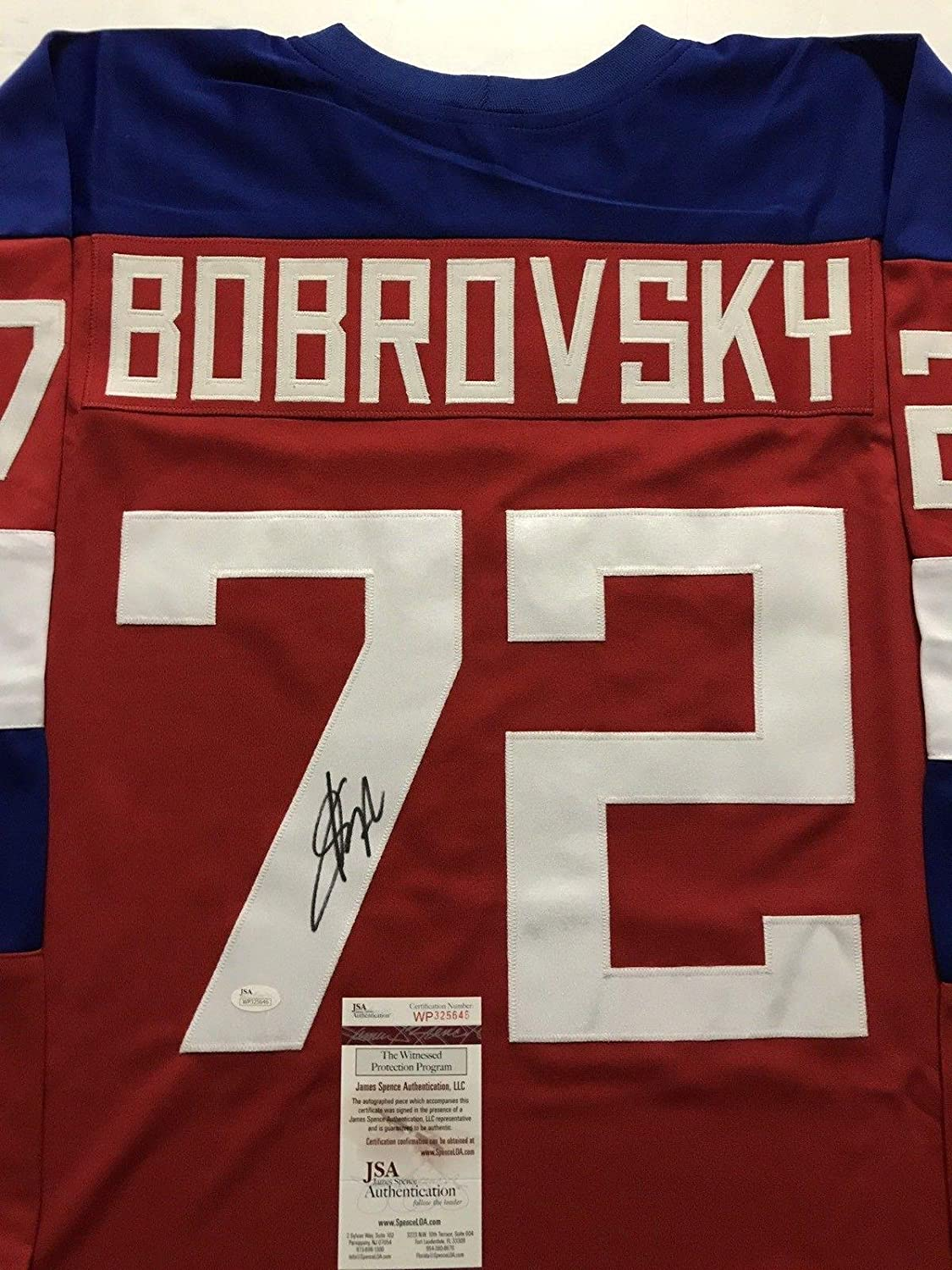 f33d6e5b951 Amazon.com  Autographed Sergei Bobrovsky Jersey - Team Russia Red COA - JSA  Certified - Autographed NHL Jerseys  Sports Collectibles