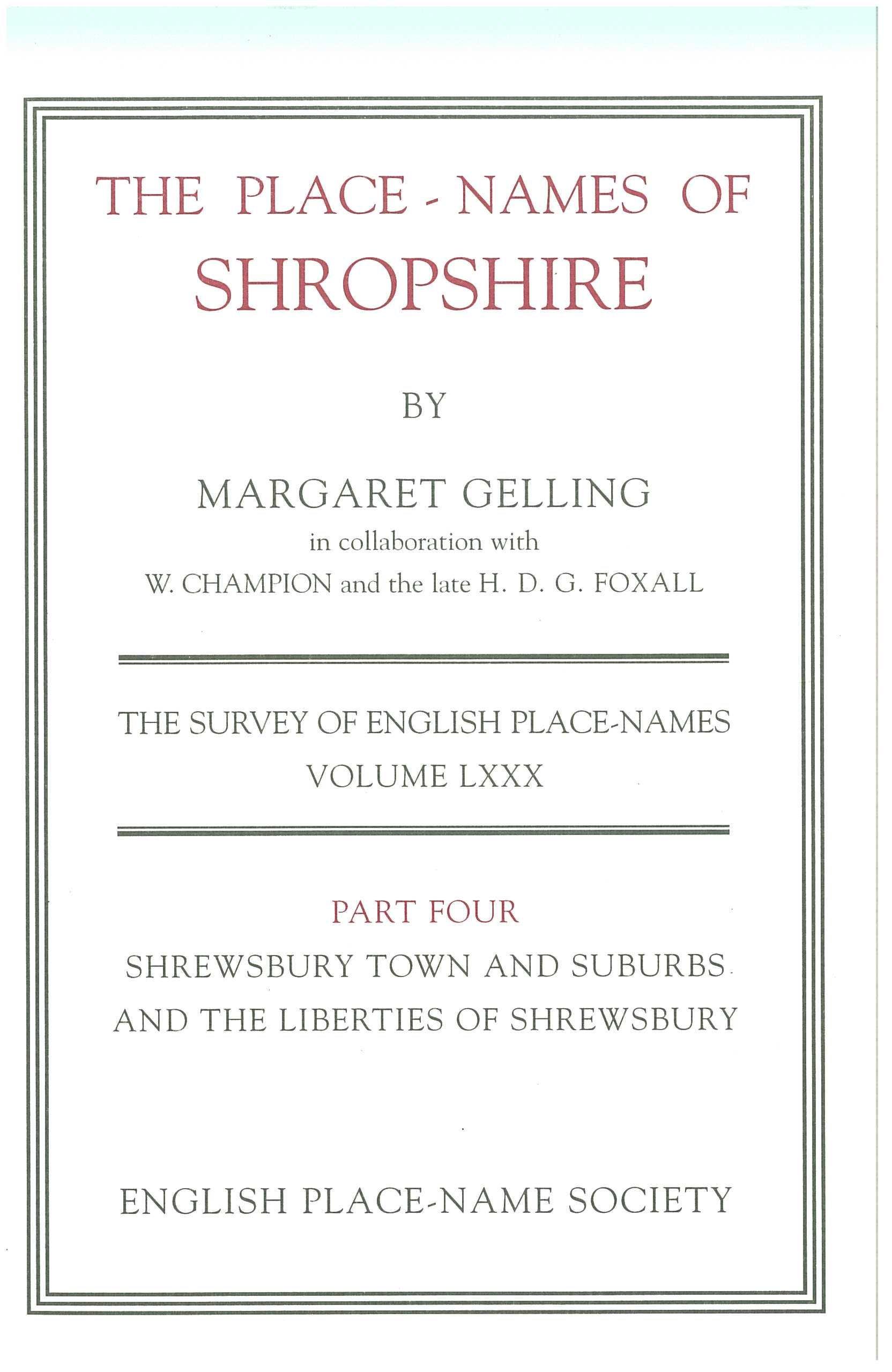 Download The Place-Names of Shropshire (Pt. 4) pdf epub