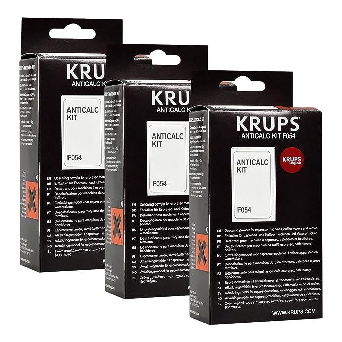 Krups Anticalc Kit F054 Kit desincrustante de cal para cafeteras (3 unidades): Amazon.es: Hogar