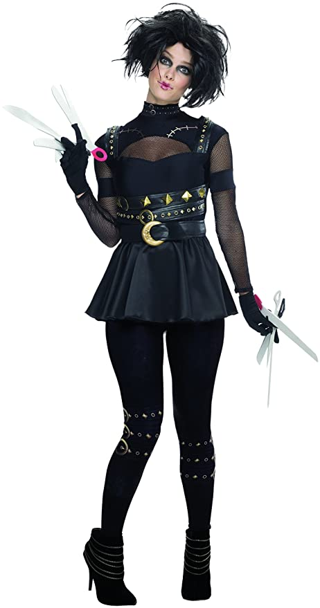 Womens Miss Scissorhands Fancy Dress Costume Large