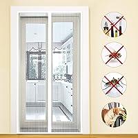 MODKOY mosquitera Puertas Exteriores Cerrado automáticamente Plegable Circulacion