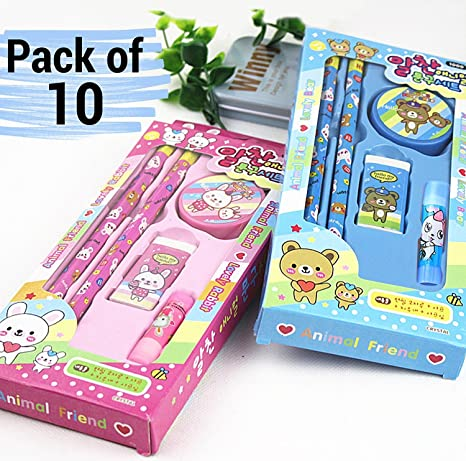 Tied Ribbons Kids Birthday Party Return Gift Sets For Boys Girls Stationary Set Pack