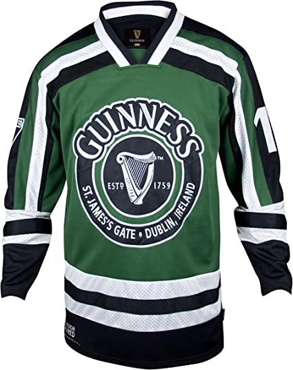 Guinness Hockey Jersey - Embroidered Polyester Athletic Shirt
