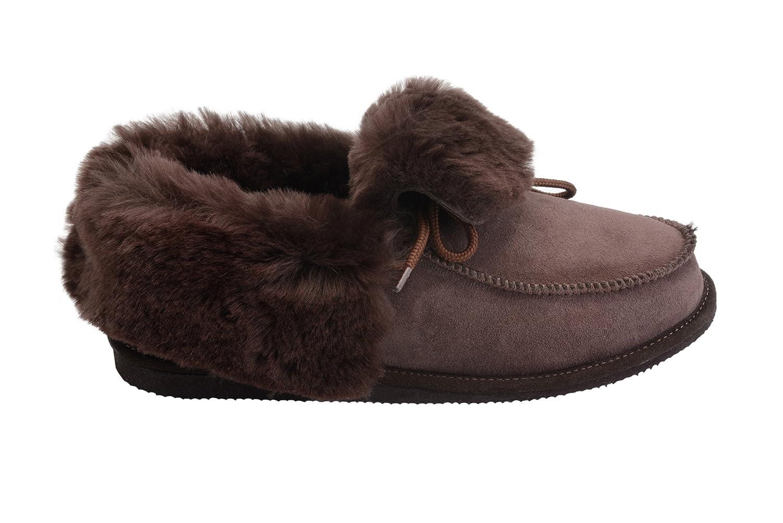 Vogar Hommes Femmes B000LSXRV0 Luxe Peau Pantoufles de Mouton Mouton Pantoufles Chaussures Chaussons avec Doublure Chaud Laine W76 Marron 33aa7e2 - boatplans.space