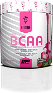 FitMiss Women's BCAA Powder, 6 Grams of BCAA Amino Acids, Post-Workout Recovery Drink for Muscle Recovery and Muscle Toning, Strawberry Margarita, No Sugar or Calories, 30 Servings
