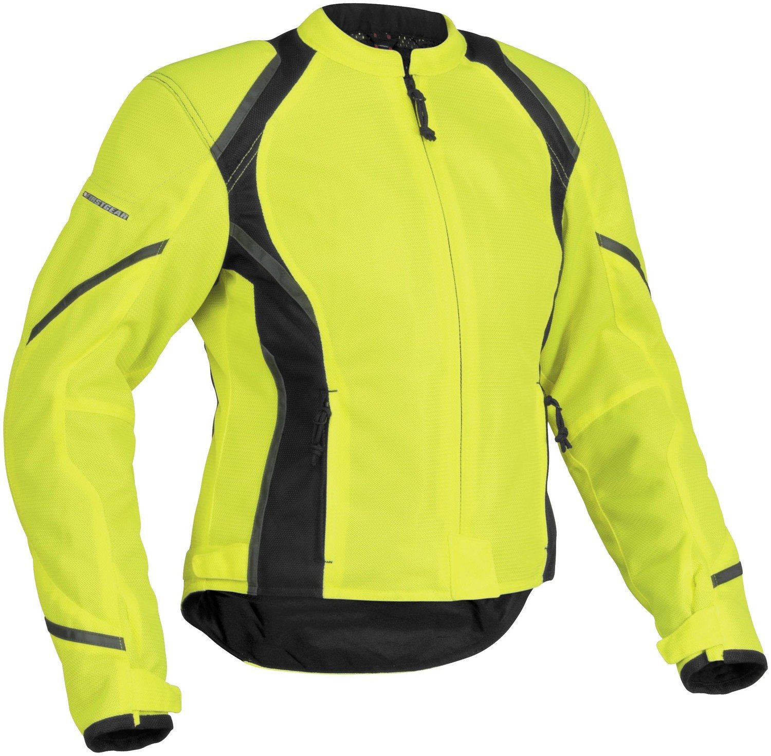 FirstGear Tex Women's Mesh Sports Bike Racing Motorcycle Jacket - DayGlo / Large