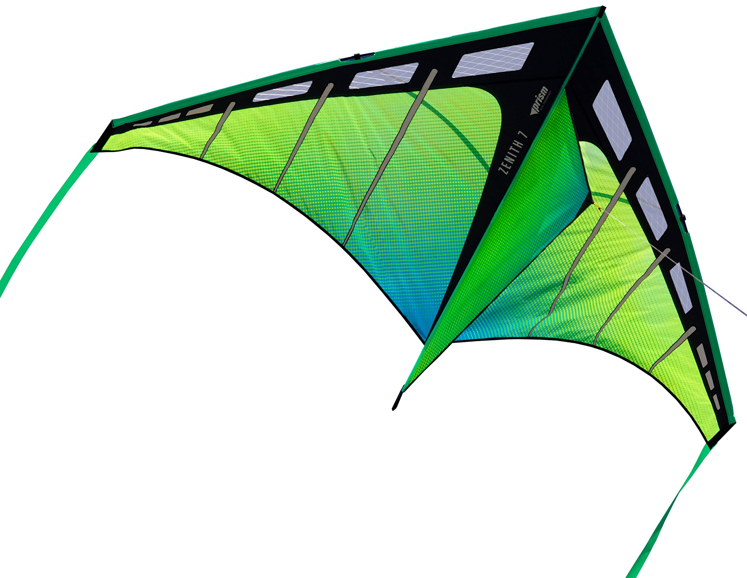 Prism Kite Technology Zenith 7 Aurora Single Line Kite, Ready to Fly with line, Winder and Travel Sleeve
