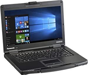 "Panasonic Toughbook CF-54, Intel i5-6300U @2.40GHz, 14.0"" FHD (1920 x 1080) Multi Touch, 8GB, 256GB SSD, Webcam, Backlit Keyboard, DVD Multi Drive, 4G LTE, WiFi, Bluetooth, Windows 10 Pro (Renewed)"