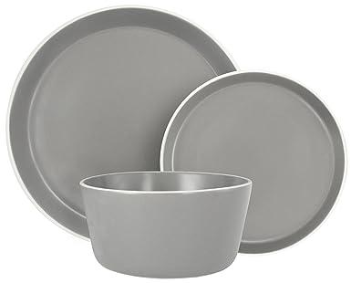 Amazon.com: Melange Stoneware - Juego de vajilla (18 piezas ...
