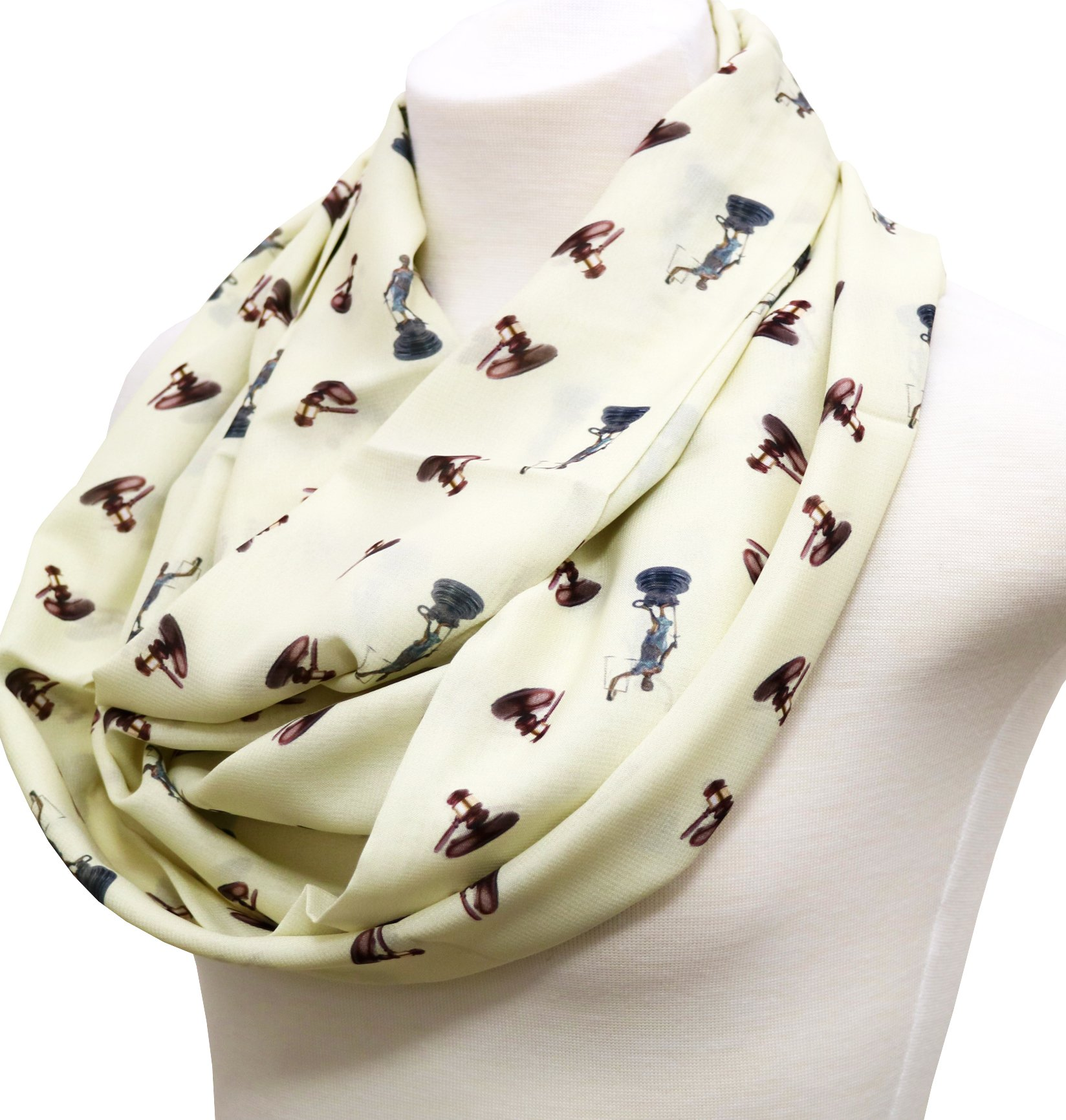 Lawyer Infinity Scarf gift for attorney Birthday Gift for her Judge graduation gift for law student Ivory