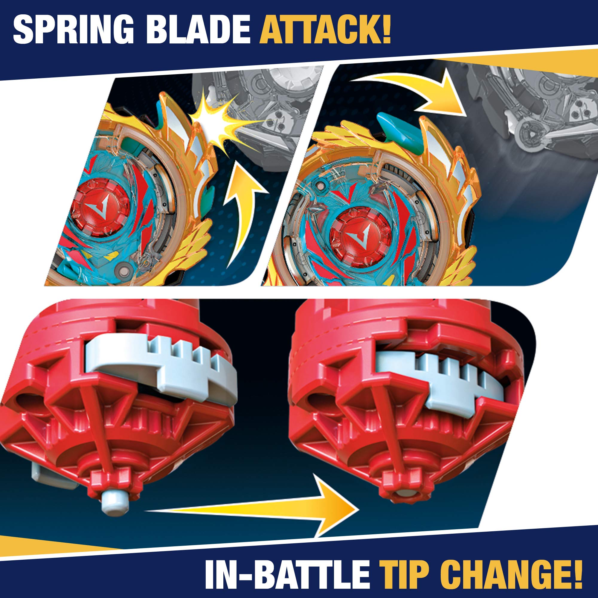 Beyblade Burst Evolution Elite Warrior 4-Pack - 4 Iconic Right-Spin Battling Tops, Age 8+ Toy E2458AC1 (Amazon Exclusive) by BEYBLADE (Image #4)