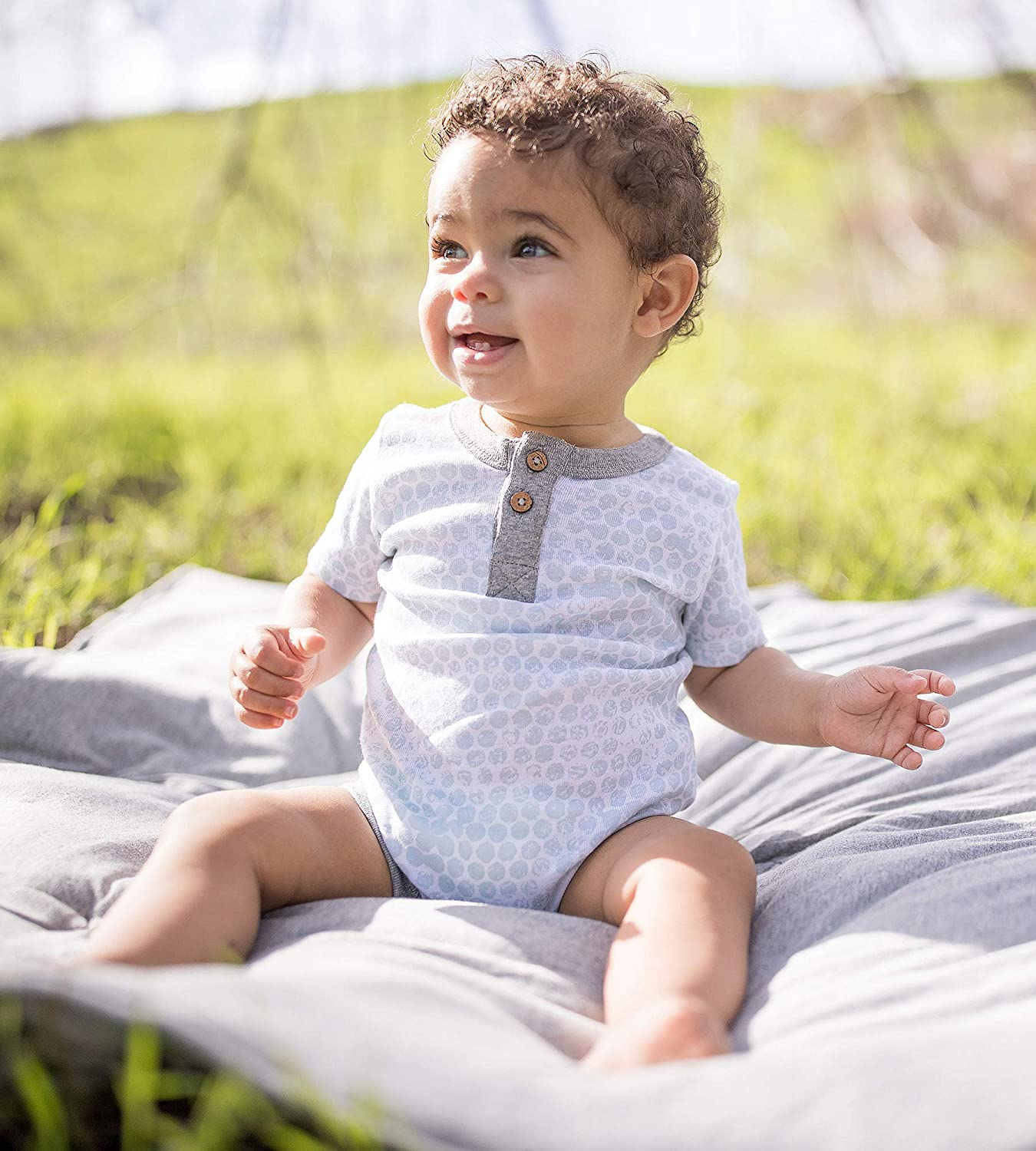 2-Pack Organic Cotton Short /& Long Sleeve One-Pieces Unisex Baby Bodysuits Burts Bees Baby