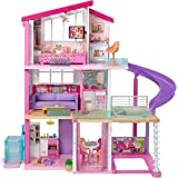 Barbie Dreamhouse Dollhouse with Wheelchair Accessible Elevator, Pool, Slide and 70 Accessories Including Furniture and House