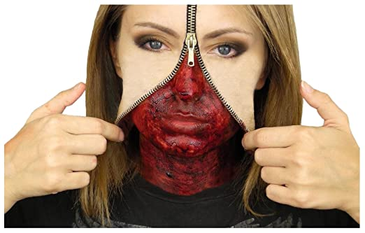 Zipper Face Liquid Latex Set Hollywood Special Effects Halloween Make Up Amazon.co.uk Clothing  sc 1 st  Amazon UK & Zipper Face Liquid Latex Set Hollywood Special Effects Halloween ...