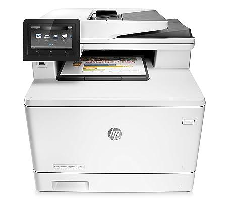 HP Color LaserJet Pro MFP M477fnw - Impresora láser a color (A4, hasta 27 ppm, 750 a 4000 páginas al mes, USB 2.0 de alta velocidad, Red Gigabit ...