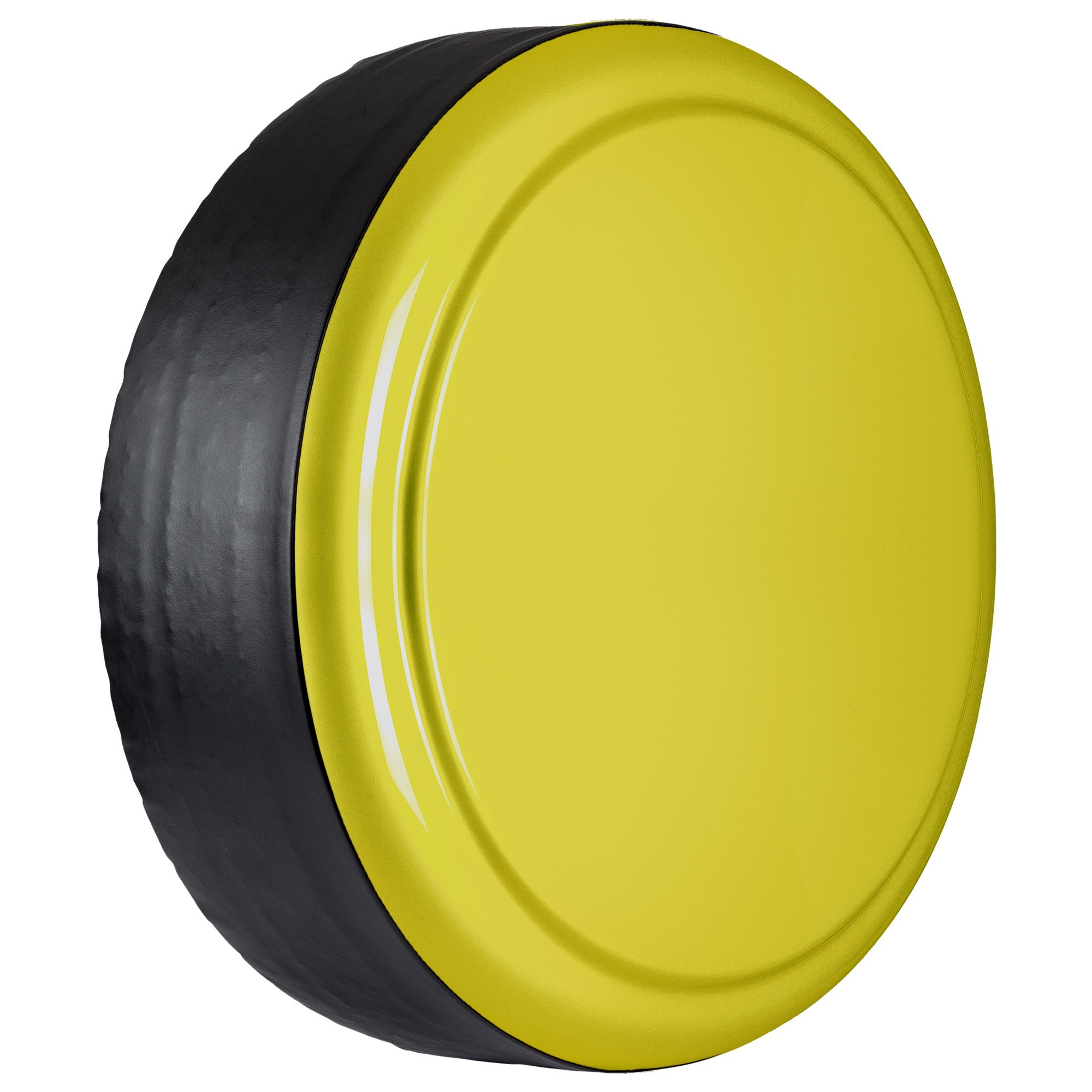 Jeep Wrangler (JK) - 32'' Color Matched Rigid Tire Cover (Plastic Face & Vinyl Band) - Acid Yellow by Boomerang (Image #3)