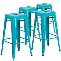 Deals on 4 Pk Flash Furniture 30inch High Backless Crystal Barstool