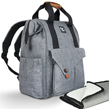 7f8117ceb7ab Baby Diaper Bag Backpack - Multi-Function - 4 Large Insulated Pockets For  Bottles -