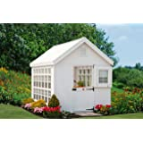 Little Cottage Company Colonial Gable Greenhouse Panelized Playhouse Kit, 8' x 16'