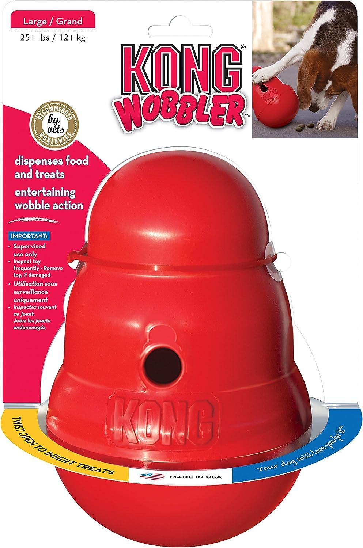 KONG Wobbler™ Interactive Treat Dispensing Dog Toy, Dishwasher Safe For Large Dogs
