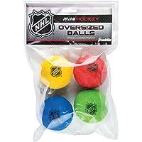 Franklin Sports Large Mini Hockey Balls - NHL - Foam - 4 Pack