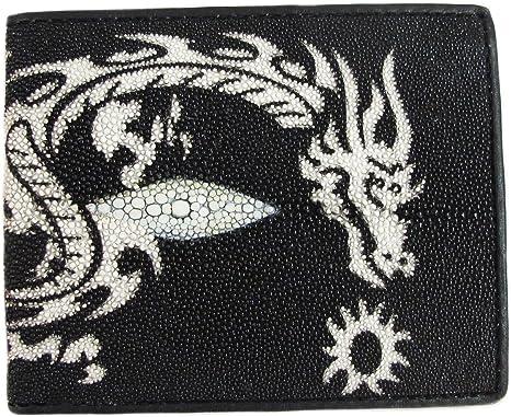 Dragon Stingray Skin Leather Bifold Men/'s Wallet