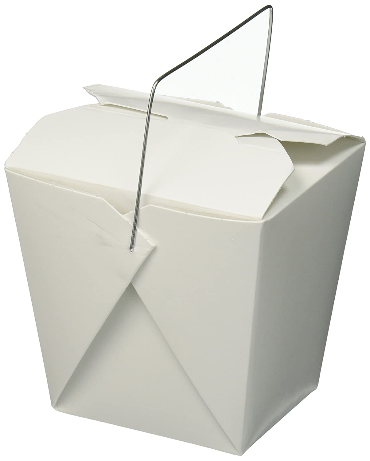 Amazon.com: Chinese Take Out Food Boxes, White with Metal Wire ...