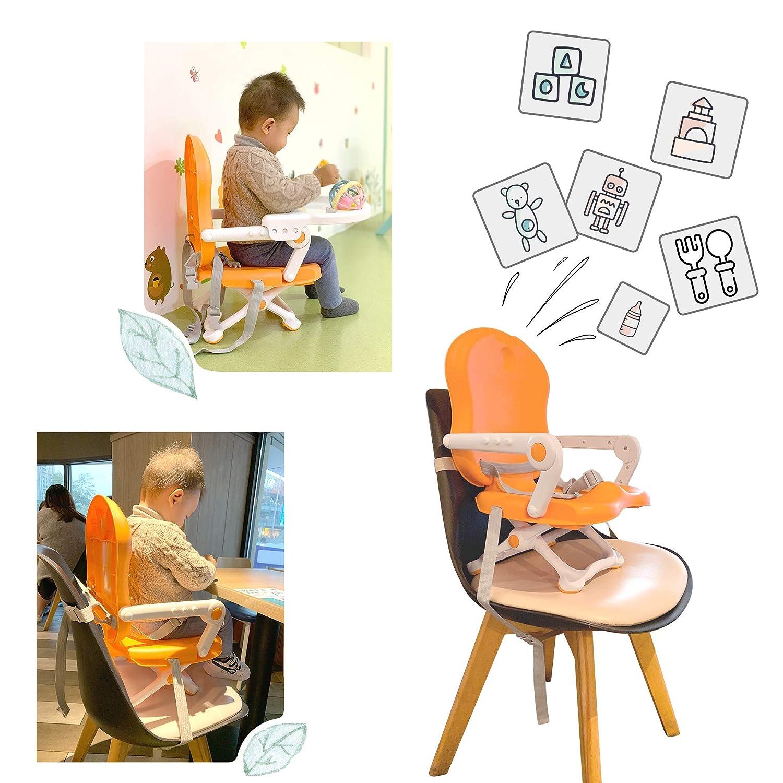 Naranja Todeco Silla port/átil para alimentaci/ón de beb/és Asiento elevador para beb/é Material: PP Alto: 38//42//46//50 cm
