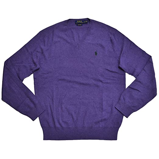 30e739c7e5694b Image Unavailable. Image not available for. Color: Polo Ralph Lauren Mens  Pima Cotton V-Neck Sweater ...