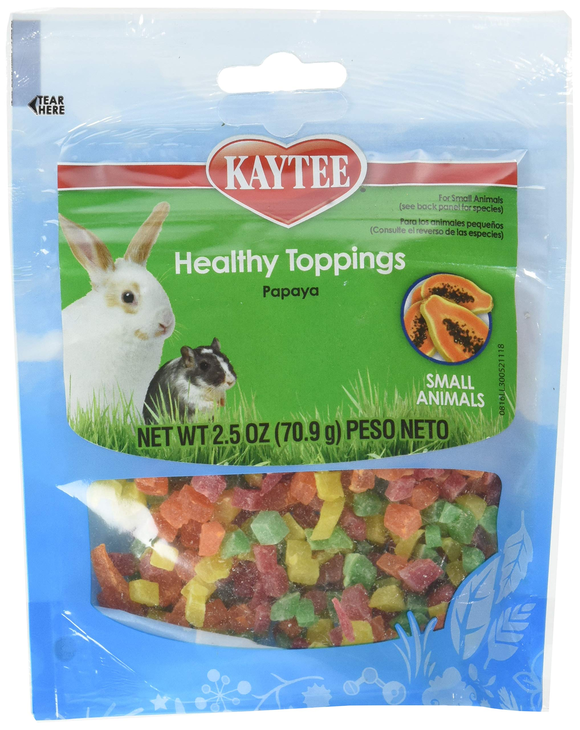 (12 Pack) Kaytee Fiesta Papaya Topping Healthy Treats For Small Animal, 2.5-Ounce Each by Kaytee