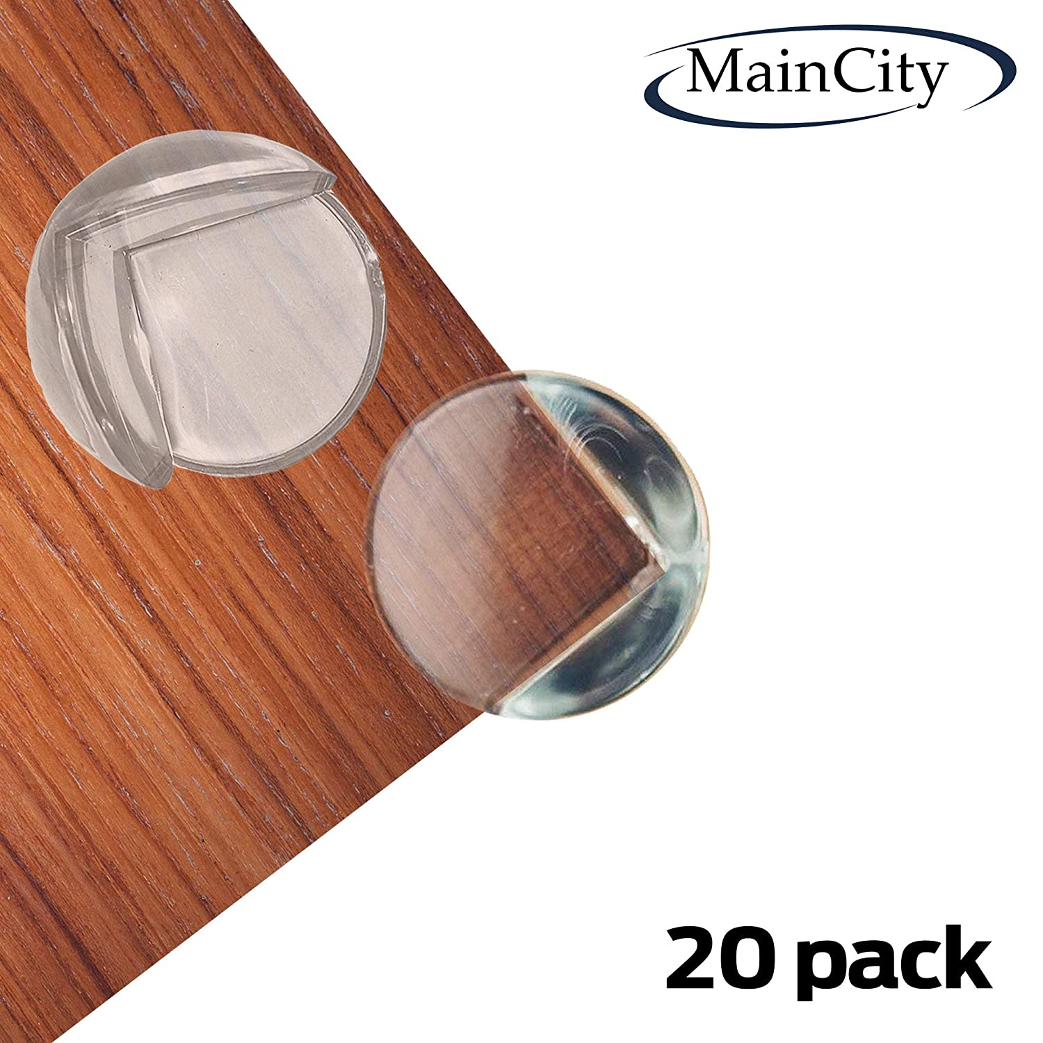 MainCity Clear Corner Guards Protectors for Babies, Kids and Children. Stop Child Head Injuries with Safety Bumpers (20-Pack) Prevent Injuries from Tables, Furniture & Sharp Edges. Corners Proofing Ltd.