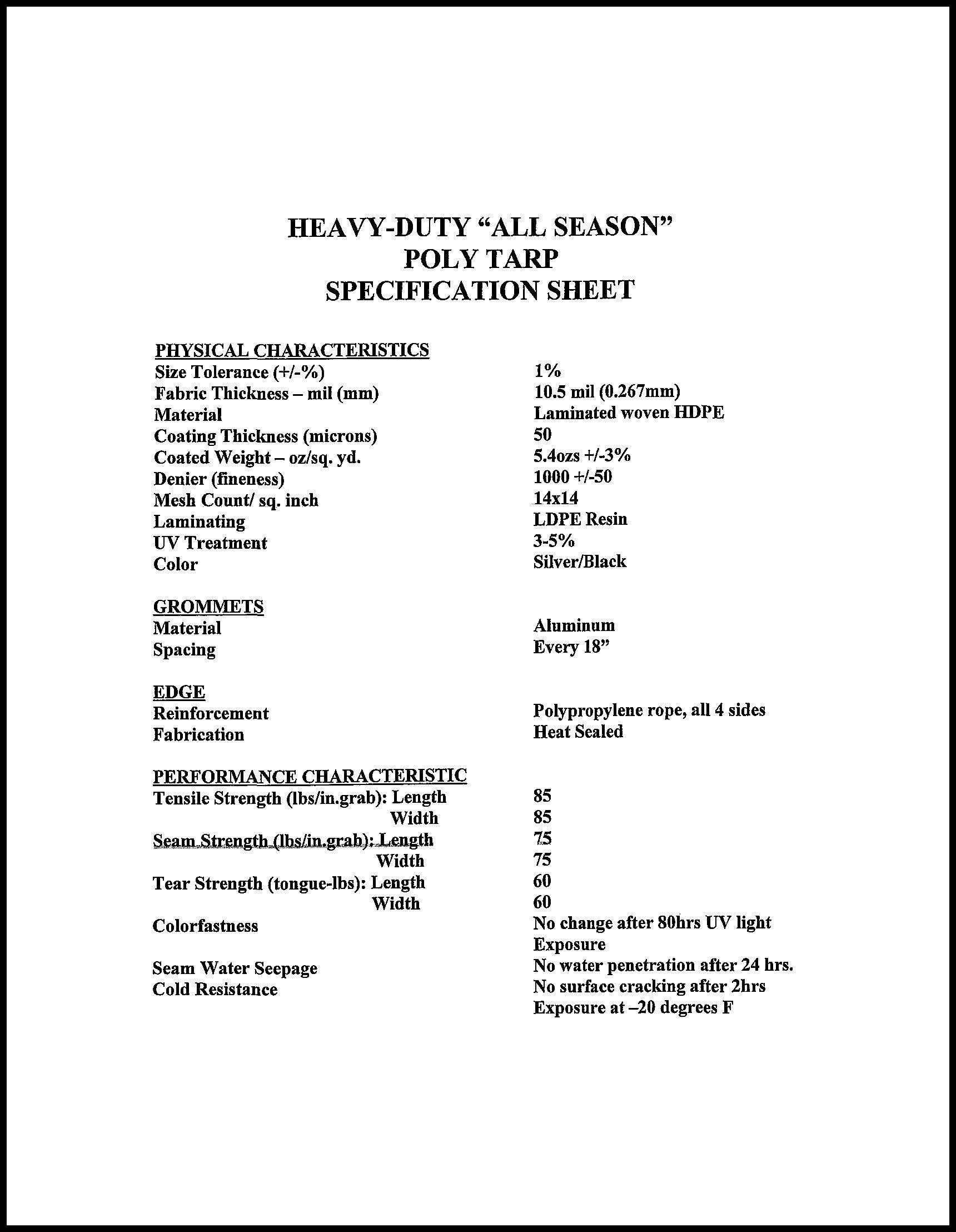 8x10 Heavy Duty Silver/Black Poly Tarp - 10.5 mil - 14x14 Weave - 100% Waterproof by Tarp Nation